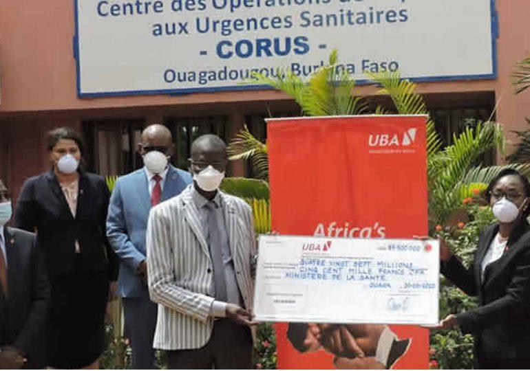 Covid-19: Le groupe UBA apporte un appui de près de 80 millions FCFA