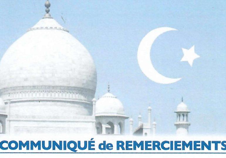 Communiqué de Remerciements suite au décès de El Hadj Tasséré SORE