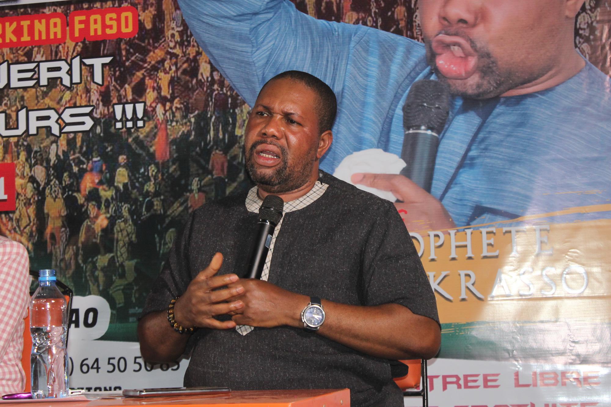 Le prophète Joël Krasso au Burkina Faso pour une grande mission d'évangélisation le 15 janvier 2020