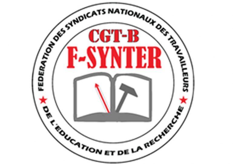 Société : Déclaration de la F-SYNTER sur la situation qui prévaut dans le secteur de l'éducation.