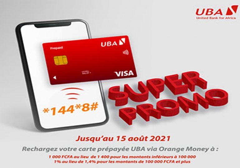 Super promo : Carte prépayée UBA