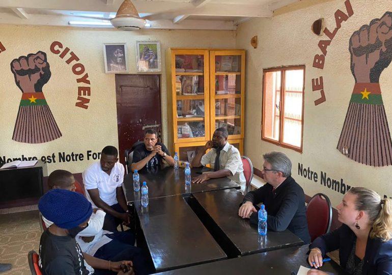 Burkina : Jean-Luc MÉLENCHON au siège du Balai Citoyen
