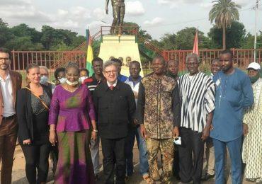 Burkina : Jean-Luc Mélenchon sur le site du mémorial Thomas Sankara