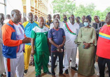 Visite de la ministre Thiombiano aux  déplacées internes de l'Est