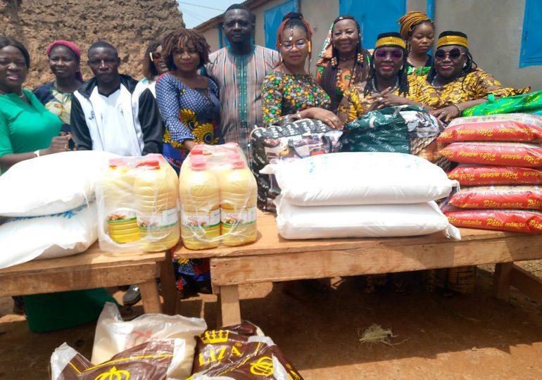 Société : L'ABFAM fait un don de vivres aux déplacés